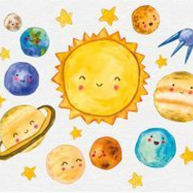 Ansichtkaart Onze Planeten.