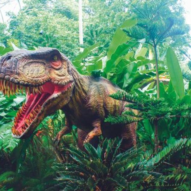Ansichtkaart Dinosaurus.