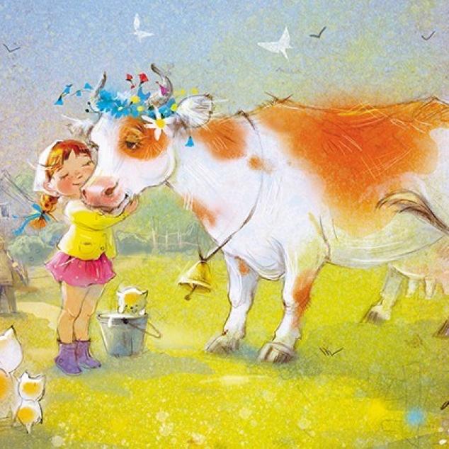 Ansichtkaart Milka mijn lievelings Koe.