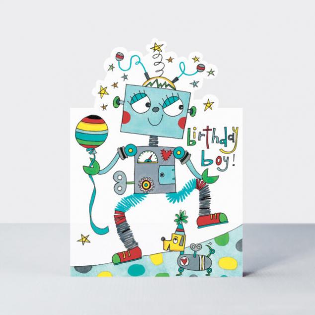 Wenskaart Verjaardag, Robot.
