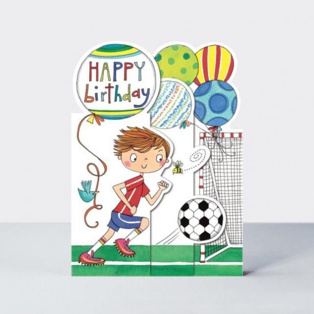 Wenskaart Verjaardag, Voetballer.