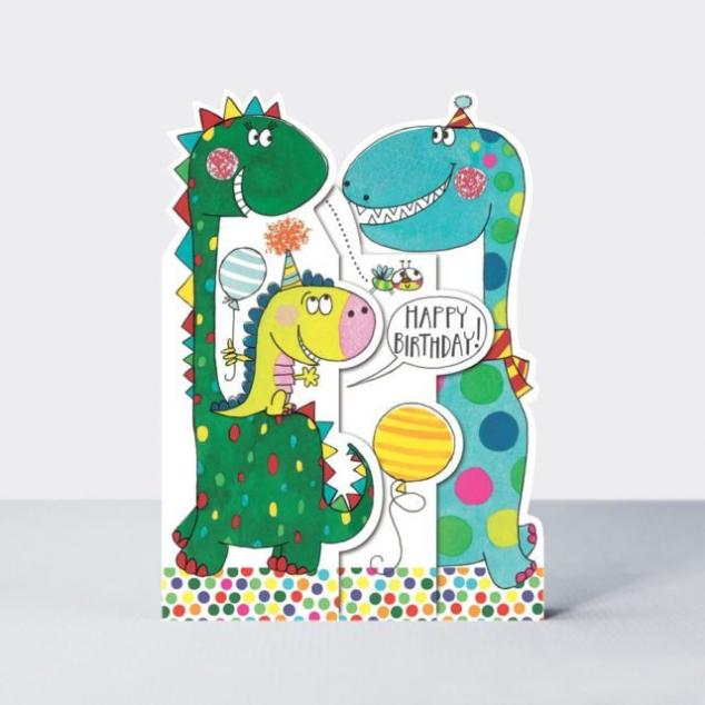 Wenskaart Verjaardag, Dinosaurus.
