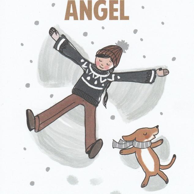 Ansichtkaart Sneeuw Engel.