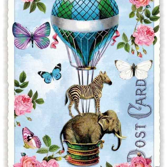 Ansichtkaart Ballon Fantasie.