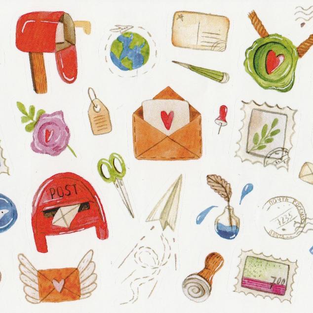 Stickers Post gerelateerd - 1
