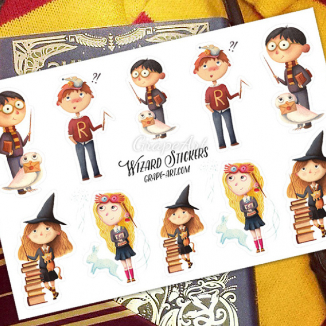 Stickers Personages Harry Potter.