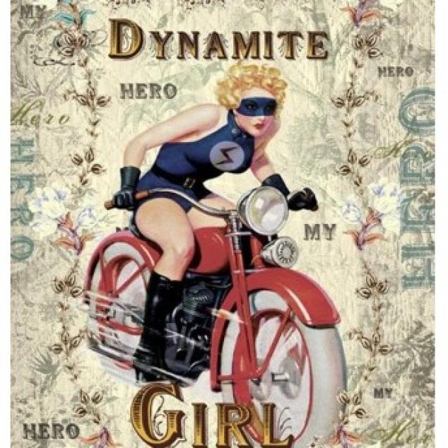 Wenskaart Dynamite Girl.