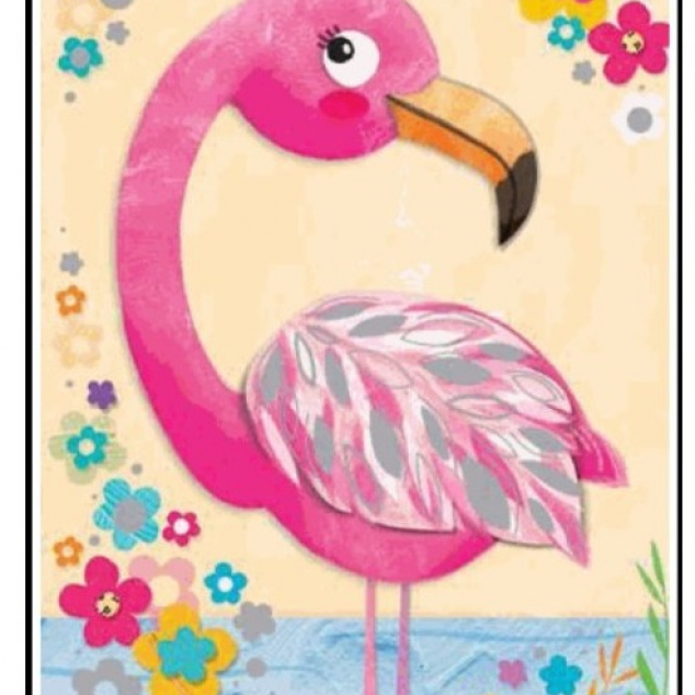 Wenskaart Fifi Flamingo.