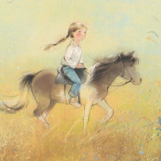 Ansichtkaart Ritje op mijn Pony.