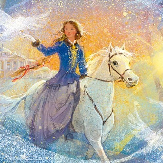 Ansichtkaart Prinses op het Witte Paard.