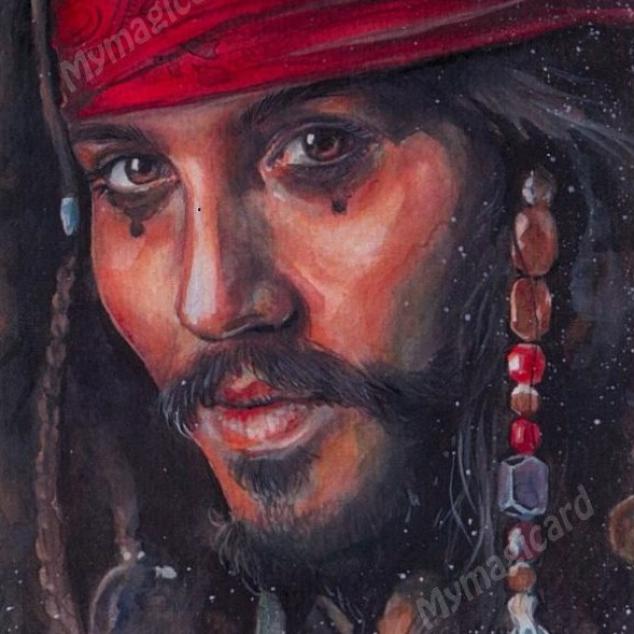 Ansichtkaart Pirates of the Carabiën.