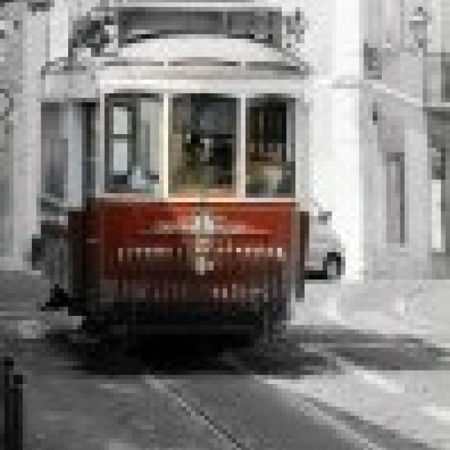 Ansichtkaart Tram in Lissabon.