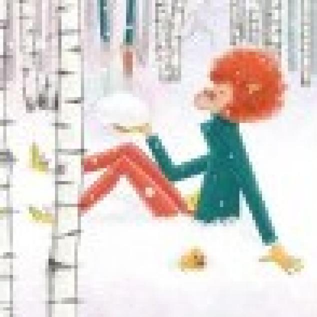 Ansichtkaart Schaapje in de Sneeuw.