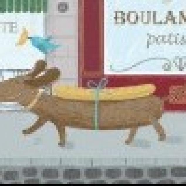 Ansichtkaart Takkie haalt een Stokbrood.