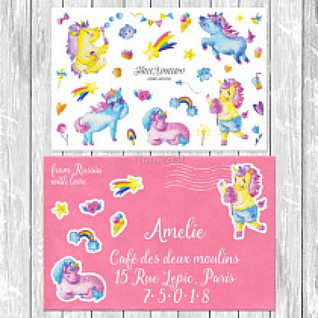 Stickers Unicorn.