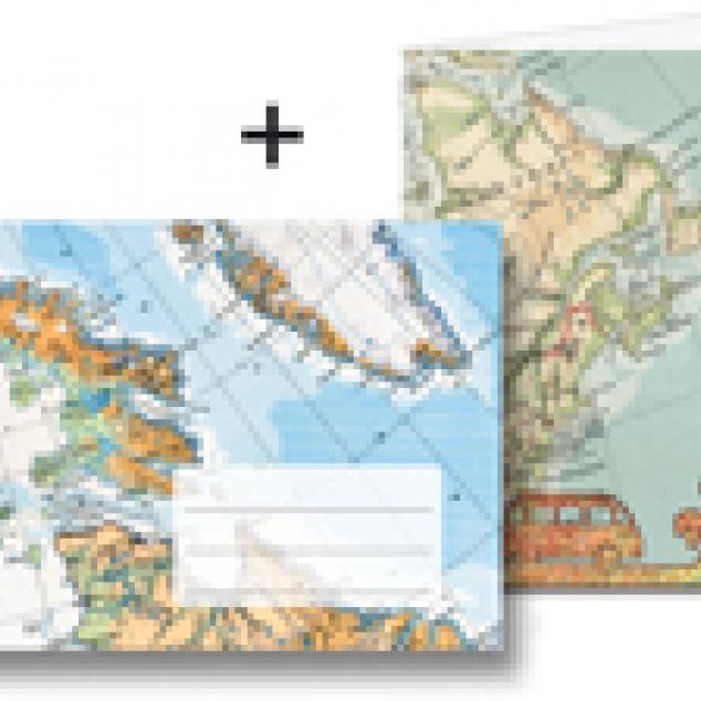 Wenskaart Funky Atlas.