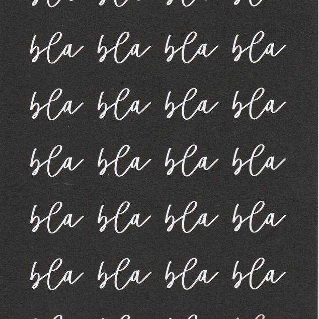 Ansichtkaart Bla, bla, bla, bla, bla, bla...