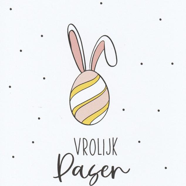 Ansichtkaart Vrolijk Pasen.