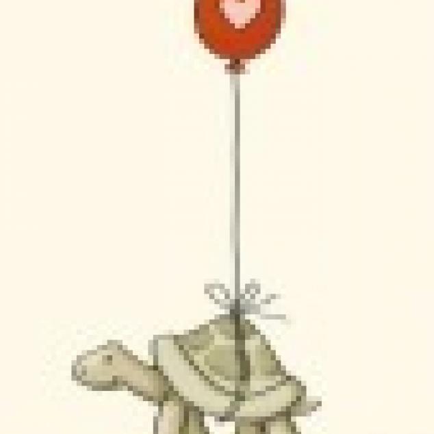 Ansichtkaart Schildpadje stuurt je wat Liefde.