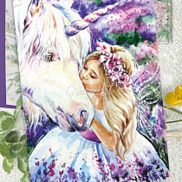 Ansichtkaart Een Kus voor mijn Unicorn.