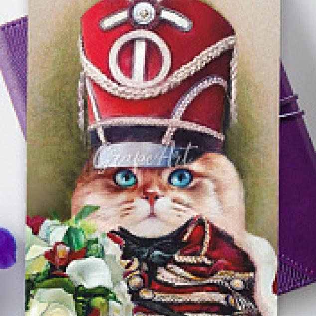 Ansichtkaart De Huzaren Kat.