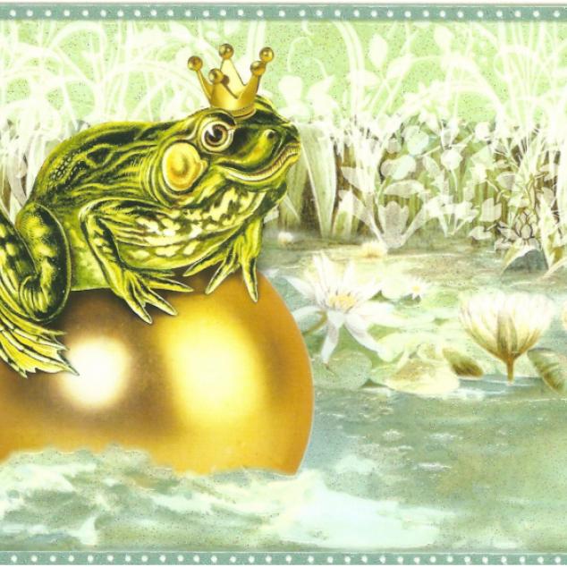 Ansichtkaart De Kikker Koning.