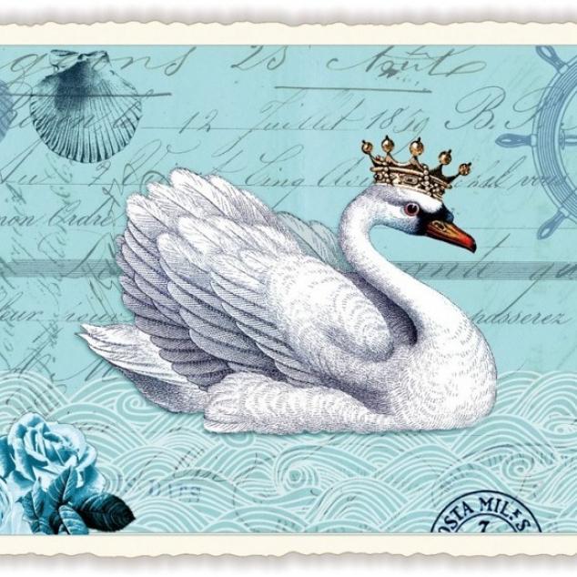 Ansichtkaart Koningin Zwaan.