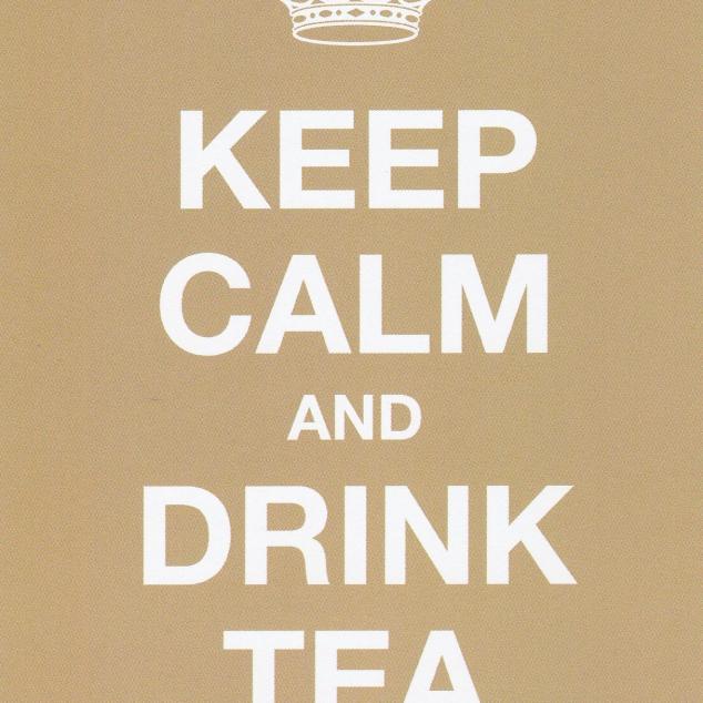 Ansichtkaart Keep Calm and Drink Tea.