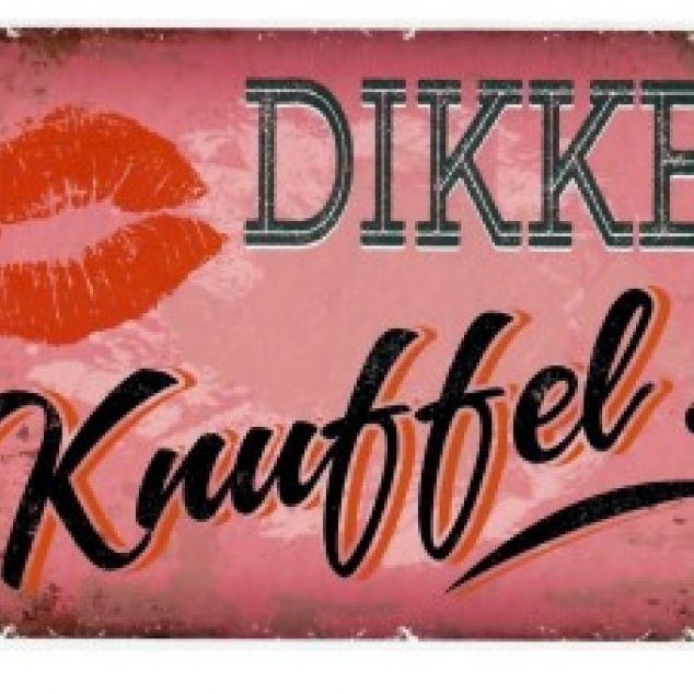 Wenskaart Dikke Knuffel.