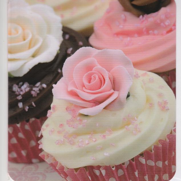 Wenskaart Cupcake.
