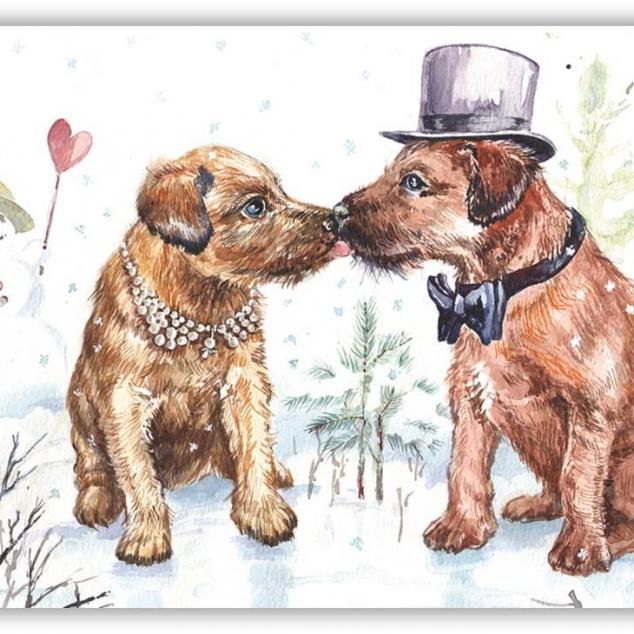 Ansichtkaart Mr. & Mrs. Dog.
