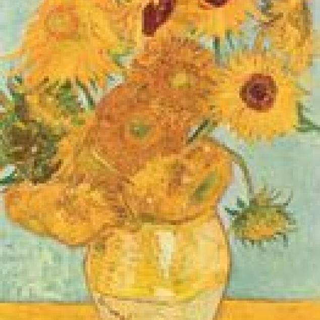 Ansichtkaart Zonnebloemen van,  Van Gogh.