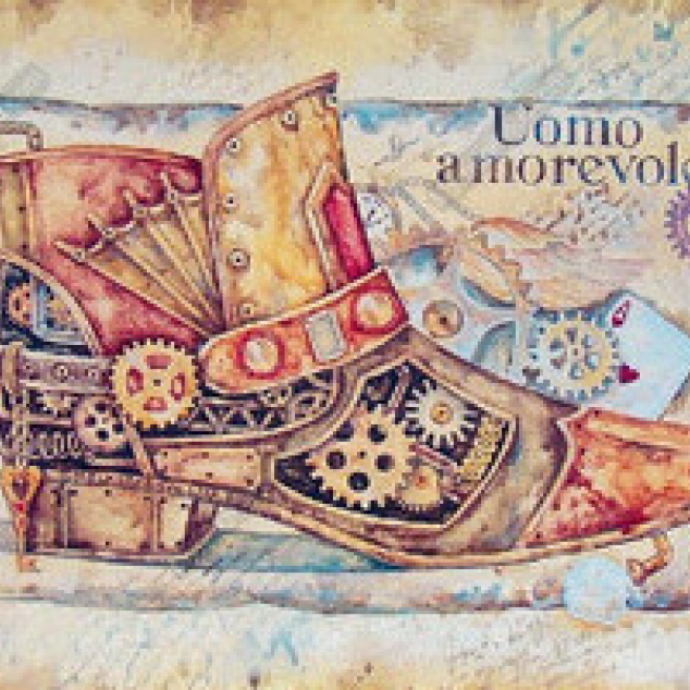 Ansichtkaart Steampunk Laars.