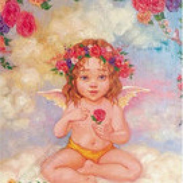 Ansichtkaart Liefde hangt in de Lucht.
