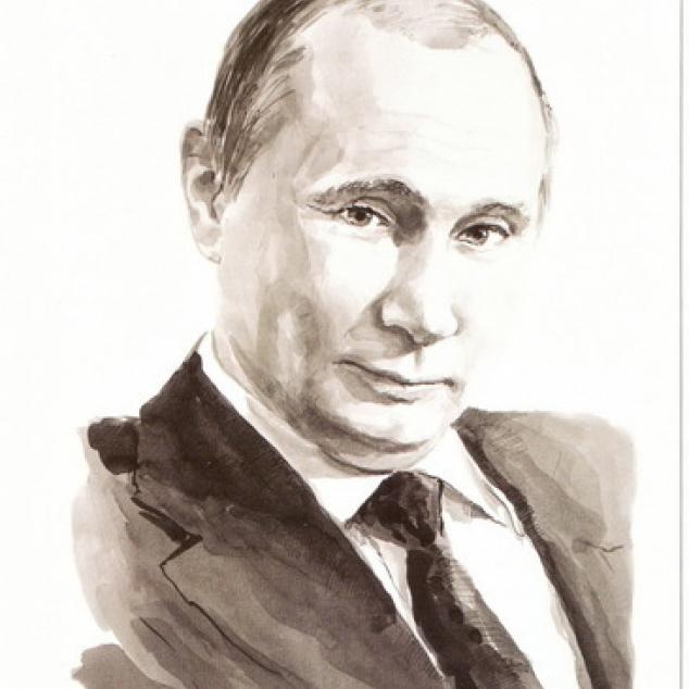 Ansichtkaart President Poetin.