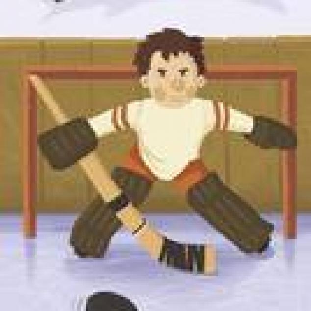 Ansichtkaart IJshockey Keeper.