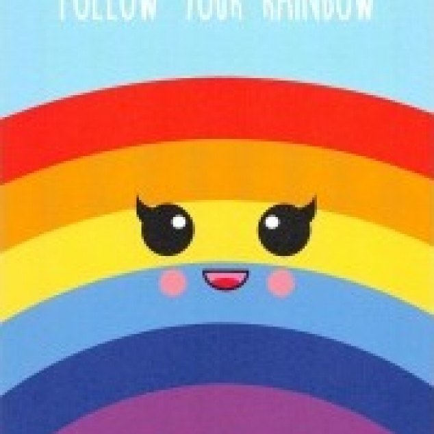 Ansichtkaart Follow Your Rainbow.