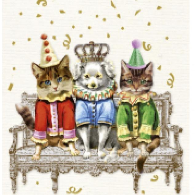 Wenskaart een Feestelijk Trio.