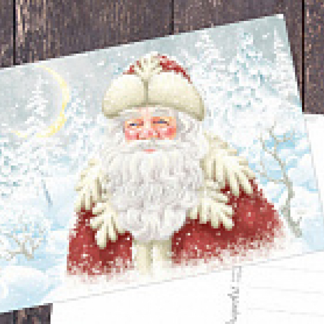 Ansichtkaart De Kerstman.
