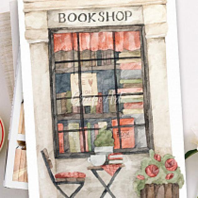 Ansichtkaart Bookshop.