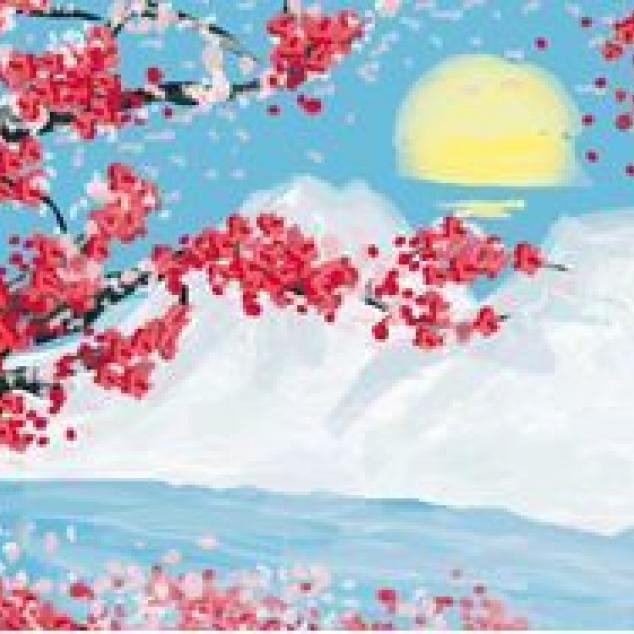 Ansichtkaart Japans Tafereeltje.