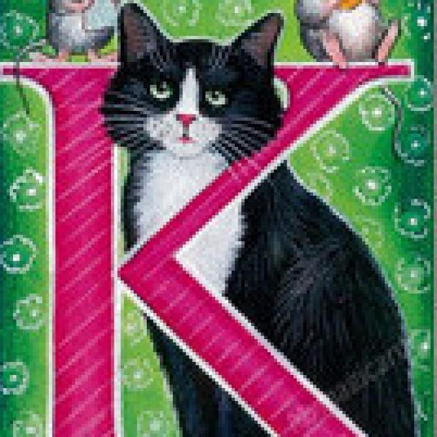 Ansichtkaart de K is van Kat, Karin, Kak, Kwats....... en van heel veel meer.