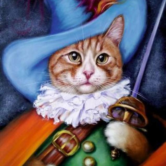 Ansichtkaart Puss in Boots.