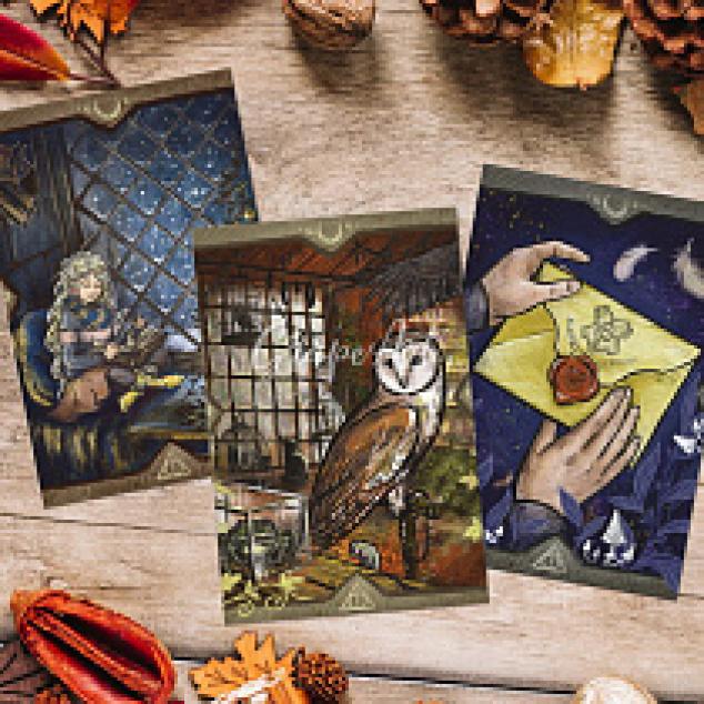 Ansichtkaarten Set van 3 kaarten, Harry Potter gerelateerd.