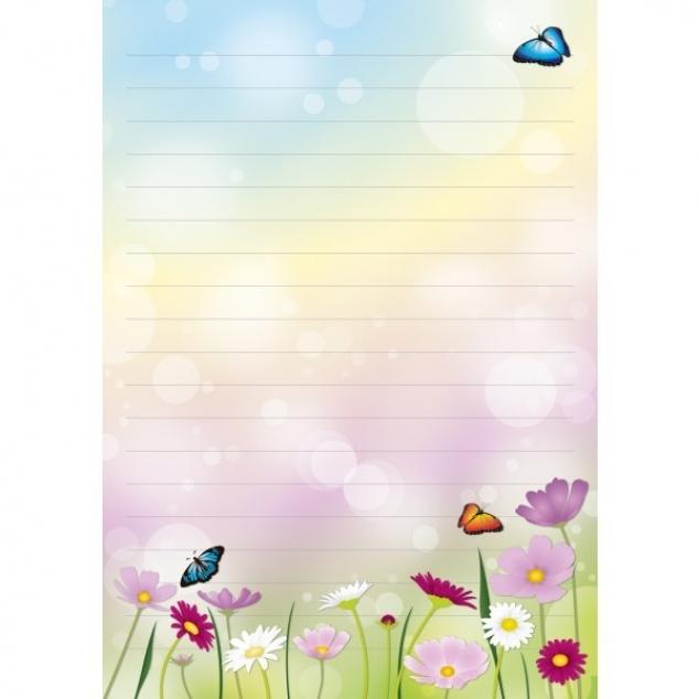 Schrijfblok Bloemen