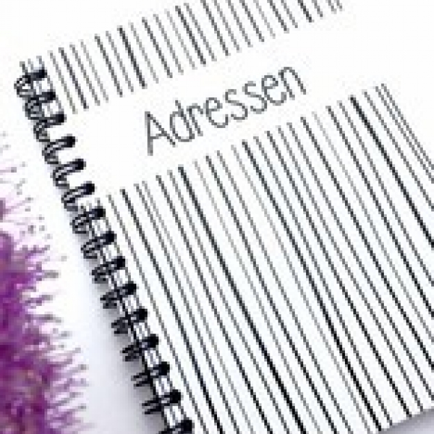Adressenboekje voor in tas