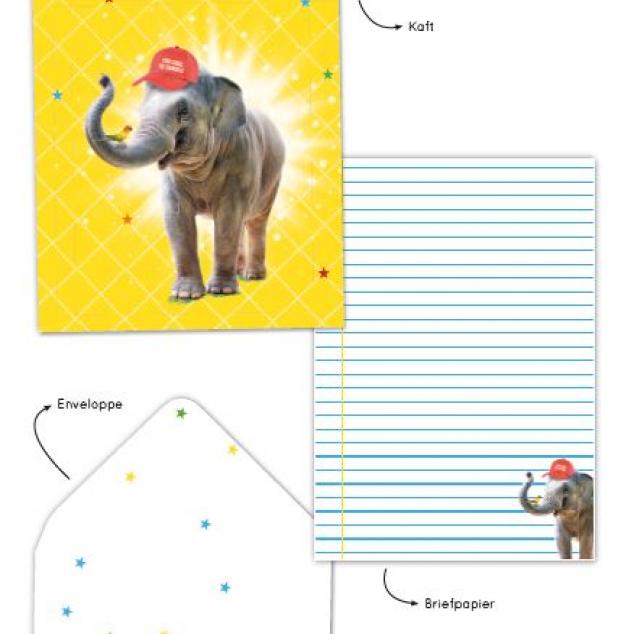 Briefpapierset Olifant