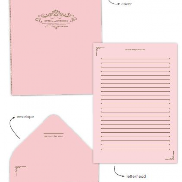 Briefpapierset Roze