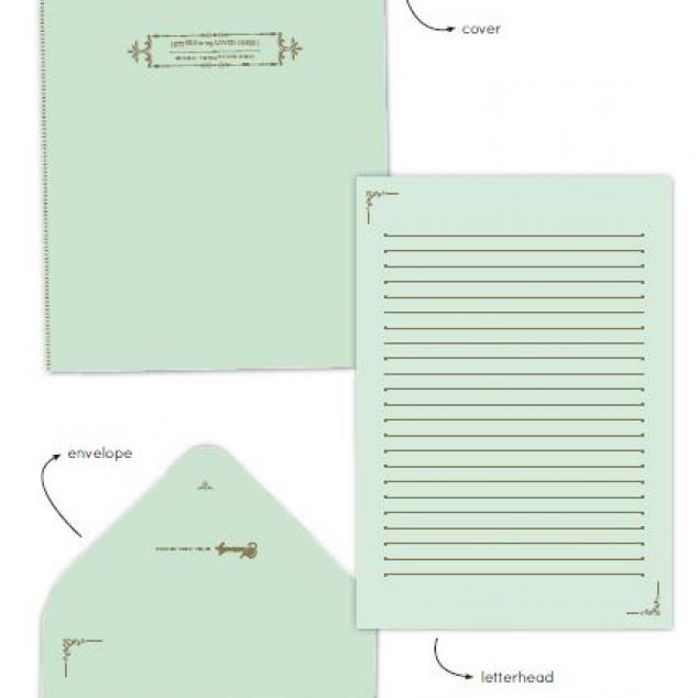 Briefpapierset Mint