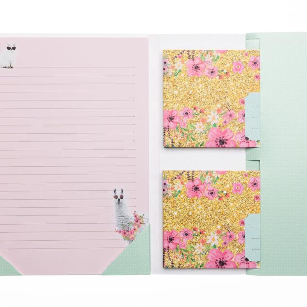 Briefpapierset Alpaca